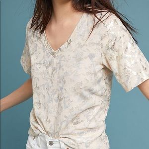 Sol Angelos |Anthropologie • Gold Foil Tee